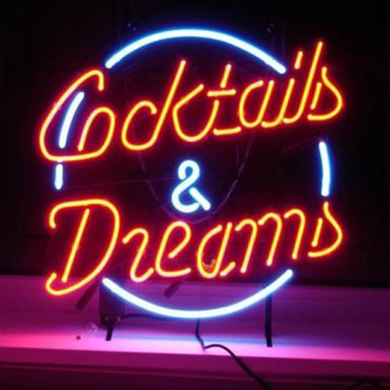 cocktails and dreams bi re bar entr e enseigne n on enseignes. Black Bedroom Furniture Sets. Home Design Ideas