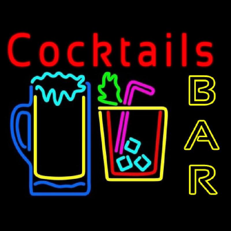 cocktails bar open enseigne n on enseignes. Black Bedroom Furniture Sets. Home Design Ideas