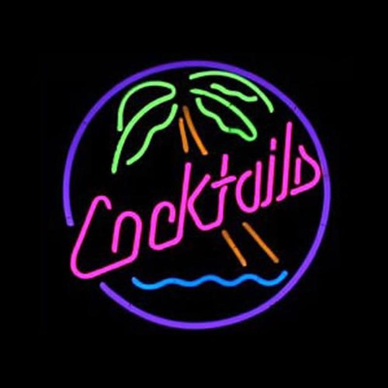 Cocktails bi re bar entr e enseigne n on enseignes - Enseigne de bar lumineuse ...