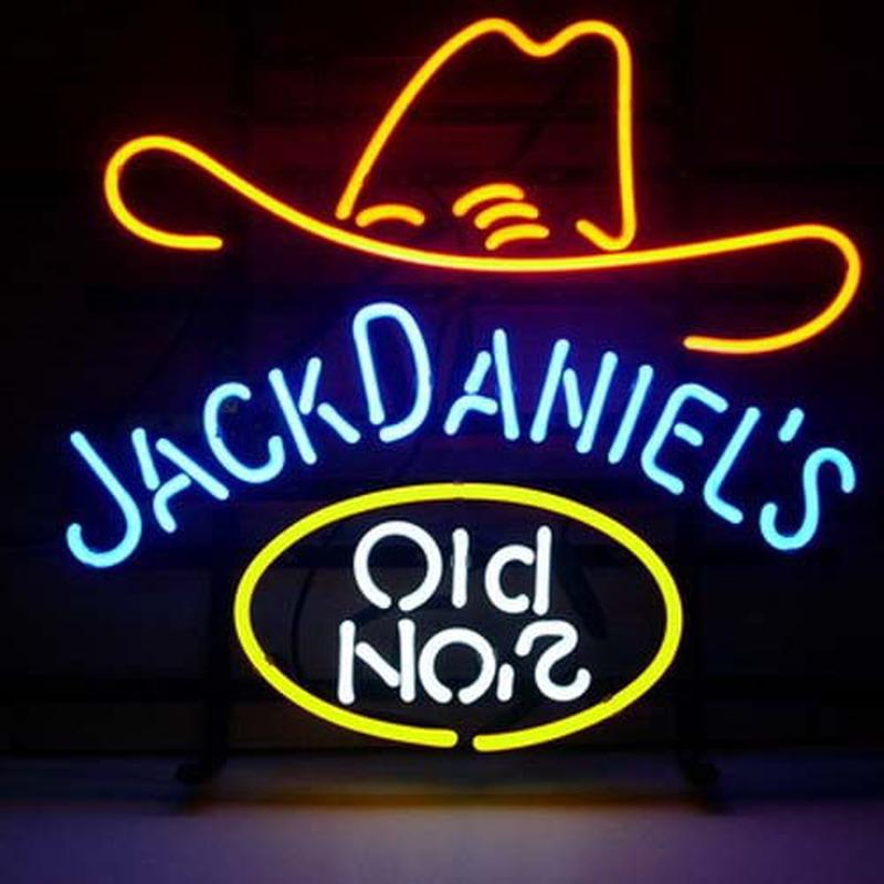 Jack daniels old 7 whiskey bi re bar entr e enseigne n on enseignes lumine - Enseigne de bar lumineuse ...