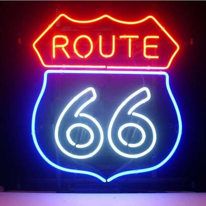 route 66 bar bi re pub magasin display garage new enseigne n on enseignes. Black Bedroom Furniture Sets. Home Design Ideas