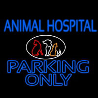 Animal Hospital Parking Only Enseigne Néon