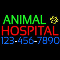 Animal Hospital With Phone Number Enseigne Néon