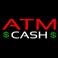 Atm Cash With Dollar Logo Enseigne Néon