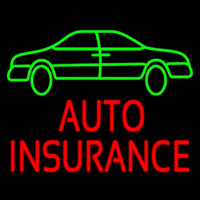 Auto Insurance With Car Enseigne Néon