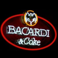 Bacardi And Coke Neon Sign Enseigne Néon
