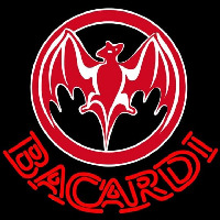 Bacardi Bat Red Logo Rum Sign Enseigne Néon