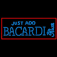 Bacardi Just Add Rum Sign Enseigne Néon
