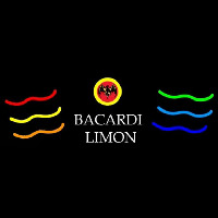 Bacardi Limon Multi Colored Rum Sign Enseigne Néon