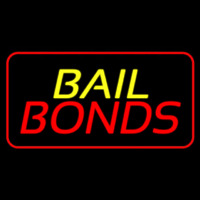 Bail Bonds Red Border Enseigne Néon