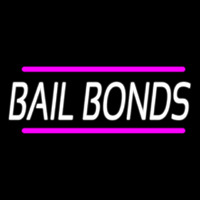 Bail Bonds With Pink Lines Enseigne Néon