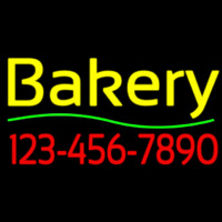 Bakery With Phone Number Enseigne Néon
