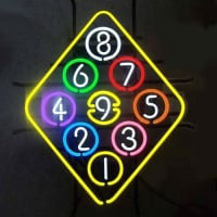 Ball Billiard Rack Pool Neon Beer Sign Enseigne Néon