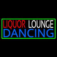Bar Liquor Lounge Dancing With Wine Glasses Enseigne Néon