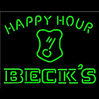 Beck Key Logo Happy Hour Beer Enseigne Néon