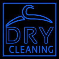 Blue Dry Cleaning Enseigne Néon