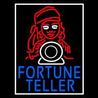 Blue Fortune Teller With Logo Enseigne Néon