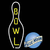 Blue Moon Bowling Beer Sign Enseigne Néon