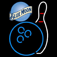Blue Moon Bowling Blue White Beer Sign Enseigne Néon