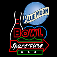 Blue Moon Bowling Spare Time Beer Sign Enseigne Néon