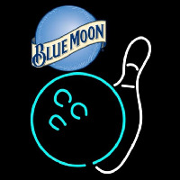 Blue Moon Bowling White Beer Sign Enseigne Néon
