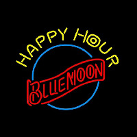 Blue Moon Classic Happy Hour Beer Sign Enseigne Néon