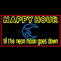 Blue Moon Happy Hour Till Beer Sign Enseigne Néon