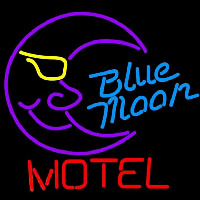 Blue Moon Motel Beer Sign Enseigne Néon