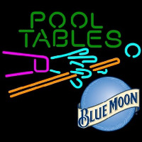 Blue Moon Pool Tables Billiards Beer Enseigne Néon