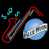 Blue Moon Sexaphone Beer Enseigne Néon