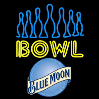 Blue Moon Ten Pin Bowling Beer Sign Enseigne Néon