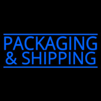 Blue Packaging And Shipping Enseigne Néon