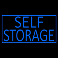 Blue Self Storage With Border Enseigne Néon
