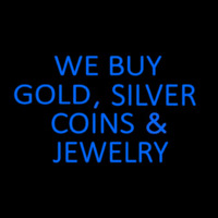 Blue We Buy Gold Silver Coins And Jewelry Enseigne Néon
