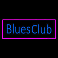 Blues Club Pink Border Enseigne Néon