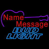 Bud Light Acoustic Guitar Beer Sign Enseigne Néon