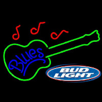 Bud Light Blues Guitar Beer Sign Enseigne Néon