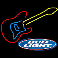 Bud Light Logob Guitar Beer Sign Enseigne Néon