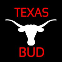 Bud Red Te as White Longhorn Beer Sign Enseigne Néon