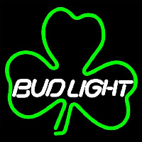 Budlight Green Clover Beer Sign Enseigne Néon