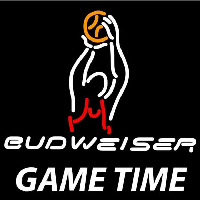 Budweiser Basketball Gametime Beer Sign Enseigne Néon
