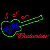 Budweiser Blues Guitar Beer Sign Enseigne Néon