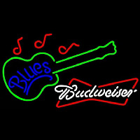 Budweiser White Blues Guitar Beer Sign Enseigne Néon