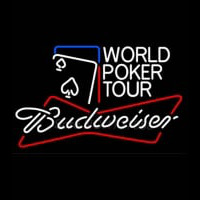 Budweiser World Poker Tour Enseigne Néon