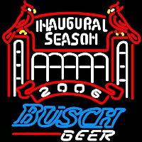 Busch 2006 Cardinals Stadium Beer Sign Enseigne Néon