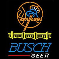 Busch Beer New York Yankees Beer Sign Enseigne Néon