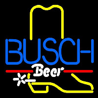 Busch Cowboy Boot Beer Sign Enseigne Néon