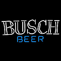 Busch Double Stroke Word Beer Sign Enseigne Néon
