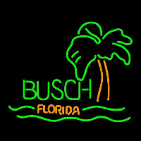 Busch Florida with Palm Tree Beer Sign Enseigne Néon