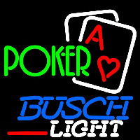 Busch Light Green Poker Beer Sign Enseigne Néon